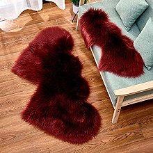 WEIDD Wool Pile Floor Mat Woolen Floor Rug Non