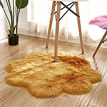 WEIDD Woolen Floor Rug Non Slip Fluffy Area Rugs