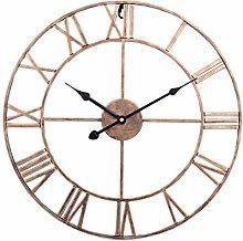 WEIFENG 50 Inch Retro Wrought Iron Wall Clock,