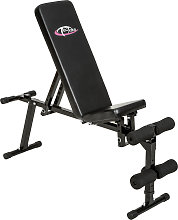 Weight bench made of steel - black
