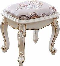 WEIJINGRIHUA Foot Stool,Small Sofa stool White