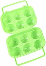 weili Portable 6 Eggs Plastic Container Holder