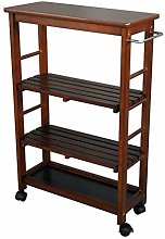 WeiLuShop Utility Cart Storage Cart 4 Tier Rolling