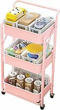 WeiLuShop Utility Cart Storage Metal Organizer