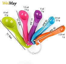 WeiMa 5pieces, colourful plastic measuring