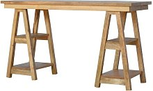 Weiss Standing Solid Wood Desk Mikado Living