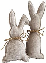 WEIZI Easter Bunny Figure Decor Table Topper -