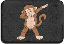 Welcome Door Mat Dabbing Monkey