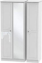 Welcome Furniture Balmoral Triple  Mirror Wardrobe
