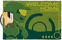 Welcome Home Door Mat (One Size) (Green/Yellow) -