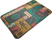 Welcome Mat Area Rug, Native American Ethnic