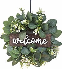 Welcome Sign For Front Door, Welcome Wreath Sign