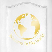 Welcome to My World Door Room Wall Sticker Happy