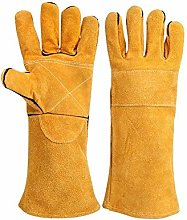 Welders Gauntlet Riggers Heat Resistant Gloves