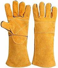 Welders Gauntlet Riggers Heat Resistant Gloves