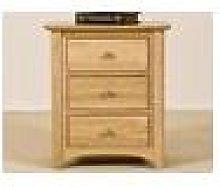 Wellington Oak Bedside Cabinet Fully Assembled