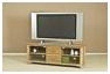 Wellington Oak Large TV Cabinet Fully Assembled