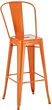 Wellman Bar Stool Borough Wharf Colour: Orange