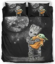 WellWellWell Baby Groot Hugged Yoda Bed Set 3