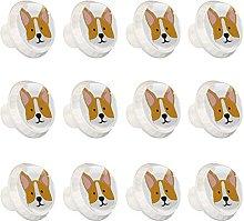 Welsh Corgi Dog White Background Knobs for Kitchen