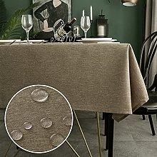 WELTRXE Rectangle Table Cloth,140x240cm,Faux Linen