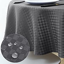 WELTRXE Round Tablecloth Water Resistant Polyester