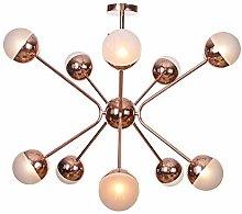 WEM 6 Lights Sputnik Globe Glass Chandelier