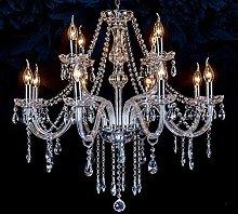 WEM Chandelier Lighting with 8 Crystal Lights,