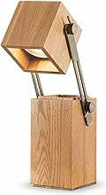WEM Led Simple Desk Lamp,Wood Art Adjustable