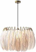 WEM Modern Feather Pendant Light,E27 White Feather