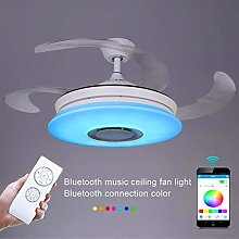 WEM Modern Retractable Blades Ceiling Fan with