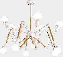 WEM Modern Sputnik 6 Lights Chandelier,Mid Century