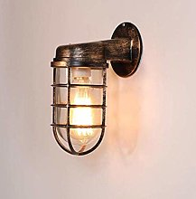 WEM Novelty Wall Lamp, Retro Industrial Rust Tube