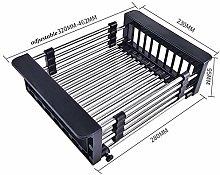 WEM Stainless Steel Sink Telescopic Drain Basket,