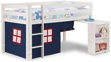 Wendy Midsleeper Bunk Bed In Surf White With Blue
