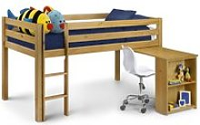 Wendy Solid Pine Wooden Mid Sleeper Frame Only -