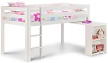 Wendy White Wooden Mid Sleeper Frame Only - 3ft