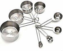 WenJ 8pcs Stainless Steel Measuring Spoons Set