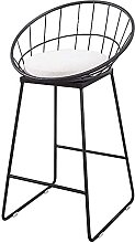 WENJIA Iron Bar Stool, Bar Backrest High Chair,