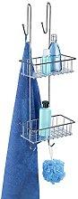 WENKO 2-Tier Bathroom Rack Aldo-Storage Basket,