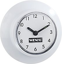 Wenko 21823100 Clock for Bathroom with Suction