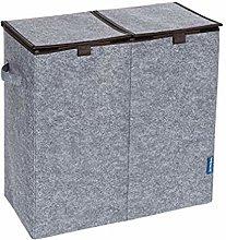 Wenko 62146100 Laundry Basket, Grey, 52 x 54 x 28