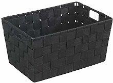 Wenko Adria 19878100 Bathroom Basket Small Black