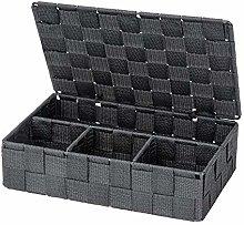 Wenko Adria Storage Basket, dark grey, 26 x 7 x 17