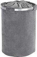 Wenko bin Cordoba Grey-laundry basket, Polyester,
