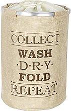 Wenko bin Ringo Beige-laundry basket, Polyester,