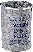 Wenko bin Ringo Grey-laundry basket, Polyester, 40