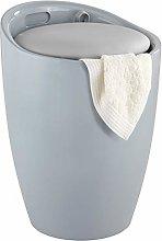 Wenko Candy Grey-bathroom stool, bin with
