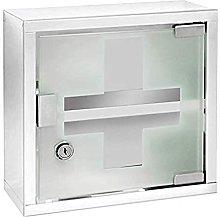 WENKO Chest-Medicine Cabinet, Lockable, Stainless