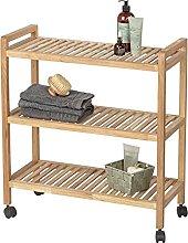 Wenko Clothes Hangers, Wood, Brown, 2,5 x 0,2 x